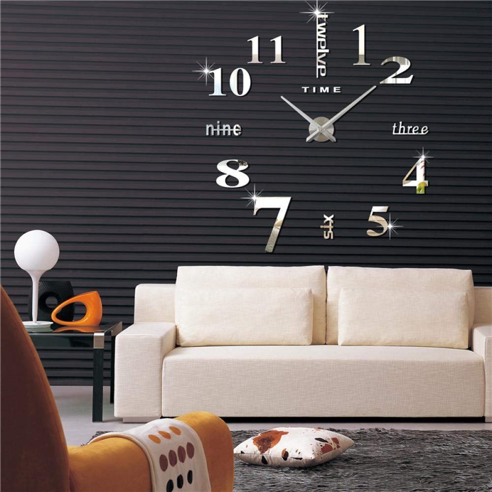 3D Nalepovacie hodiny DIY Clock Twelve Time, strie - Obrázok č. 1