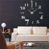 3D Nalepovacie hodiny DIY Clock Twelve Time, strie,