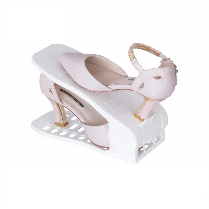 Plastový organizér na topánky - biely, sada 2ks - Obrázok č. 1