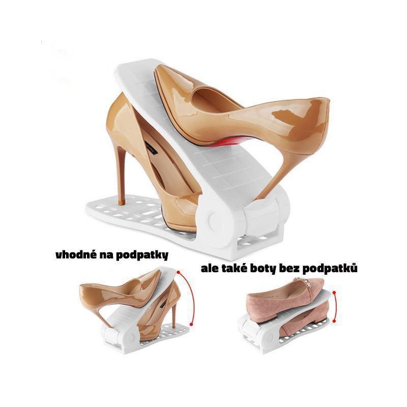 Plastový organizér na topánky - biely, sada 2ks - Obrázok č. 2
