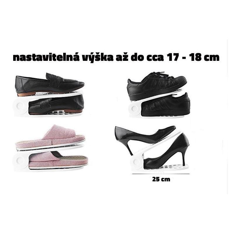 Plastový organizér na topánky - biely, sada 2ks - Obrázok č. 3