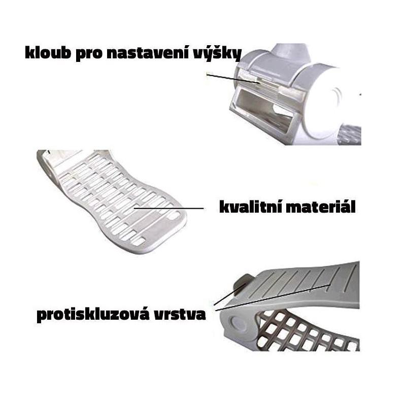 Plastový organizér na topánky - biely, sada 2ks - Obrázok č. 4