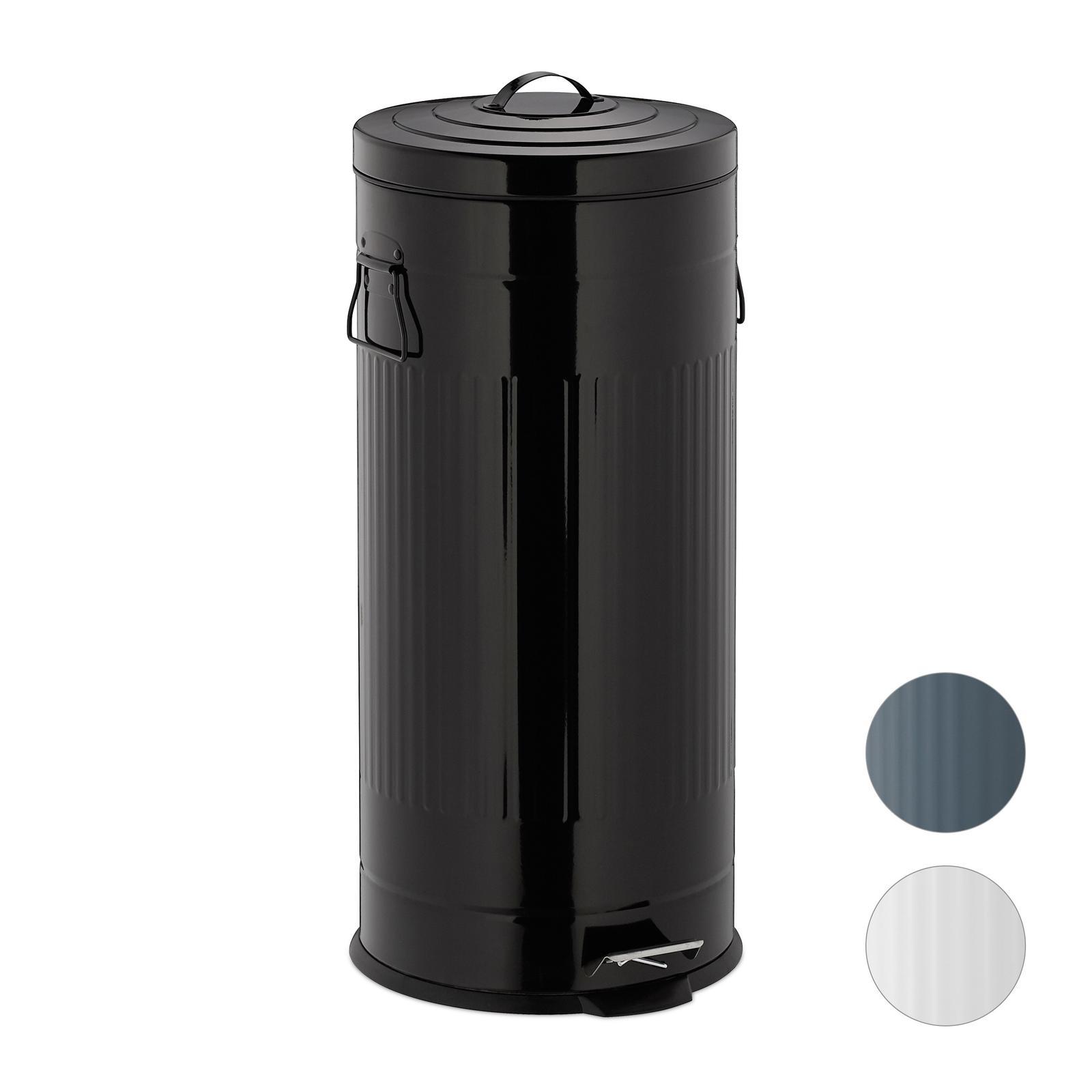 Odpadkový kôš 30L čierny Vintage, RD5614 - Obrázok č. 1