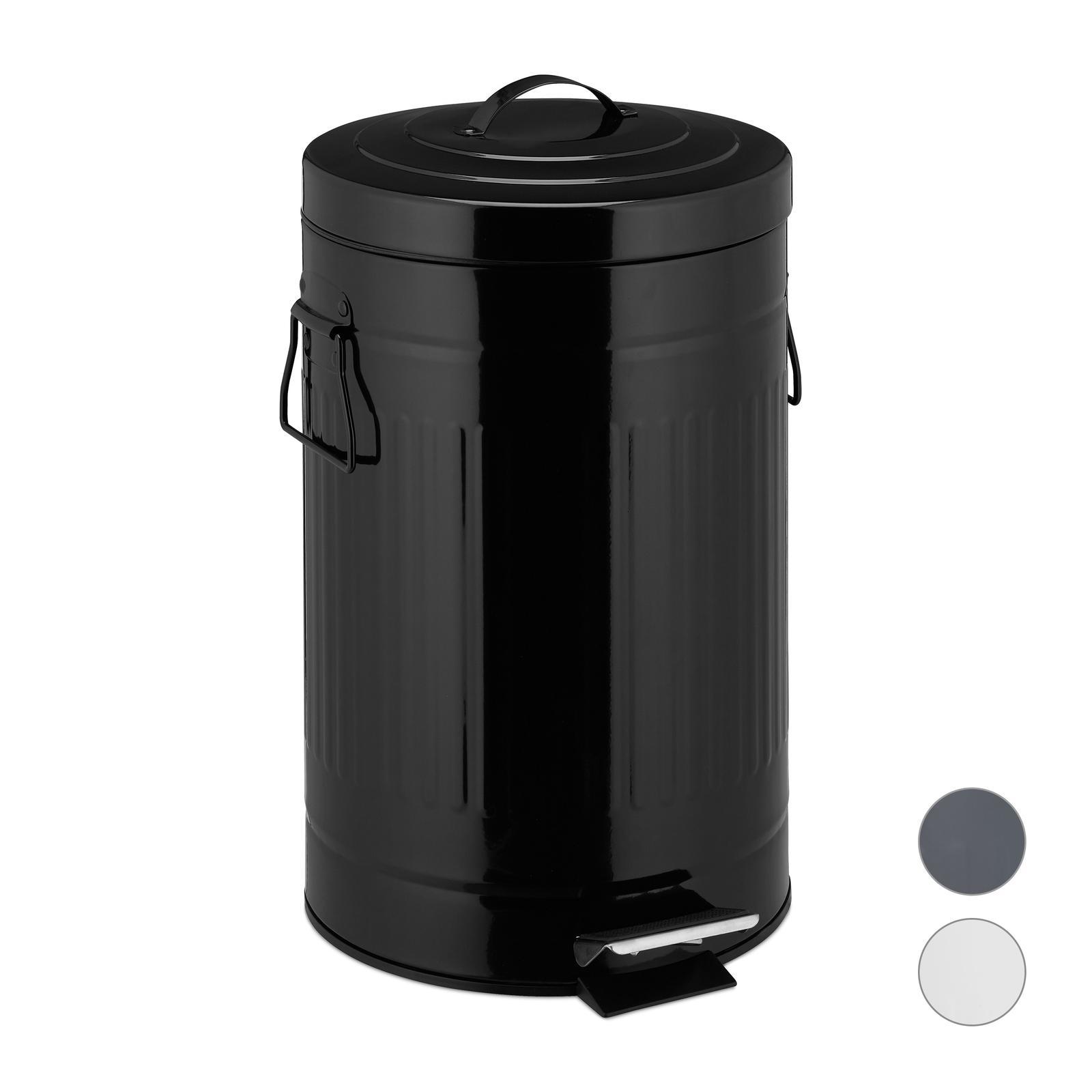 Odpadkový kôš Vintage 20L čierny, RD5613 - Obrázok č. 1