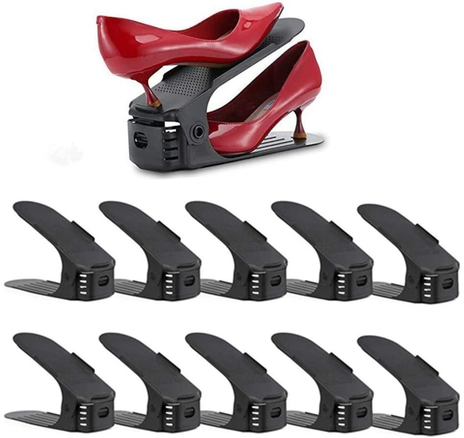 Nastaviteľný organizér na topánky čierny sada 10ks - Obrázok č. 1