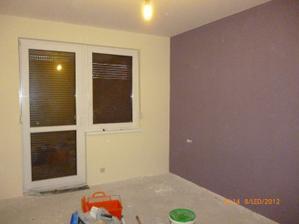 Naša spálňa, len tá fialová je naživo trošku iná, vyzerá lepšie:-)