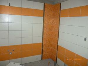 Tááák a už dokončená kúpeľňa, len tu máme trošku neporiadok...