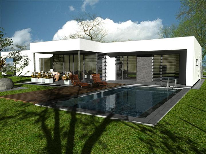 Túžba naplnená - bývam :-) - vizualizácia môjho domu.... pri výstavbe som urobila pár zmien.