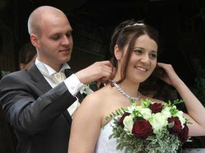 svat.dar ženicha - náhrdelník a náramek - nádhera