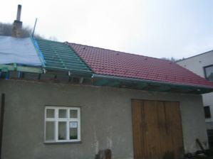 část střechy hotová
