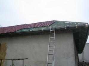 Poslední část střechy