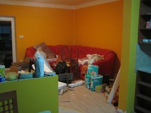 skladiště v obýváku..