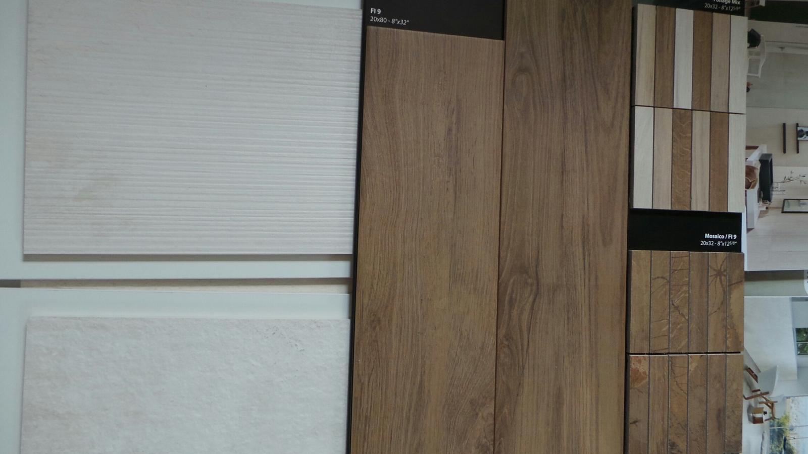 KOUPELNA ... vybíráme ... aneb co se nám líbí - První nástřel - dekor dřeva + imitace betonu ... podlaha zamítnuta