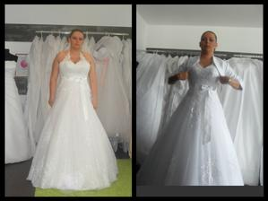 První fotka je z první zkoušky šatu a druhá fotka z dnešní zkoušky - 10kg