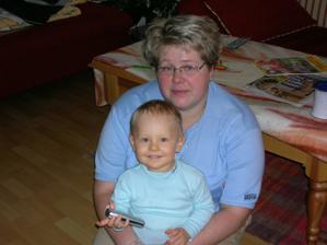 moje svědkyně Lucka s mým synem Tadeáškem