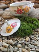 Terina-dekor luční kvítí-rok1954+dárek váza/šlehač,