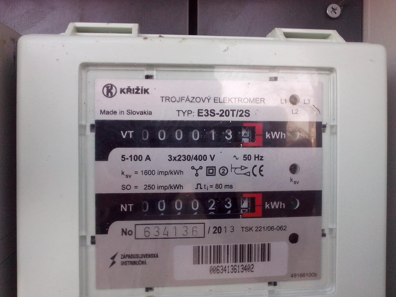 Kde nájdem na tomto elektromere číslo HDO diaľkového ovládania vysokej a nízkej tarify? - Obrázok č. 1