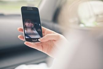 Selfie cestou na fotenie :)