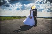 Tylové svatební šaty - vel. 36, 36