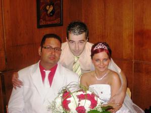 společná fotka s manželovým svědkem
