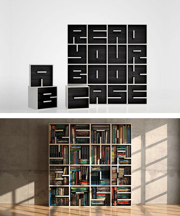 Netradiční police a knihovny - inspirace - Obrázek č. 4