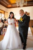 Svatebníšaty zn. Mandora vel 46-50, 48