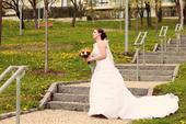 svatební šaty na jedno ramínko, vel. 38-40, 38