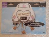 Foliovy balonek svatební auto,