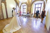 Svadobné šaty - púdrová ružová, 34