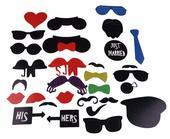 masky na fotenie pre svadobčanom alebo na party,