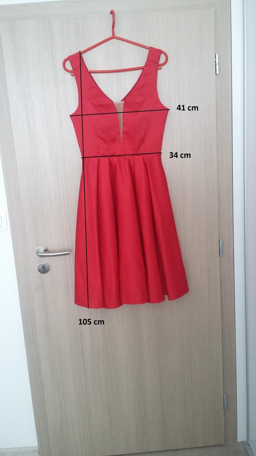 Červené šaty, redový - Obrázok č. 2