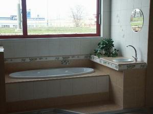 obklad do koupelny, můj zamilovaný (i když ho mají ve třech koupelnách, kam chodím na návštěvu :-) )