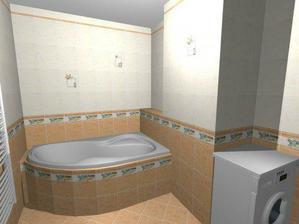 Hurá, konečně návrh koupelny...