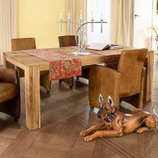 tak v takovémhle stylu bude náš stůl, jen větší (240x120, pro 10-12 lidí) a z palisandru