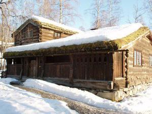 Takhle se tu bydlelo ještě v předminulém století (skanzen Maihaugen)