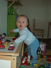 Dětský koutek v obýváku.