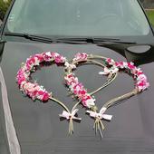 prilepovacie srdiečka na svadobné auto,