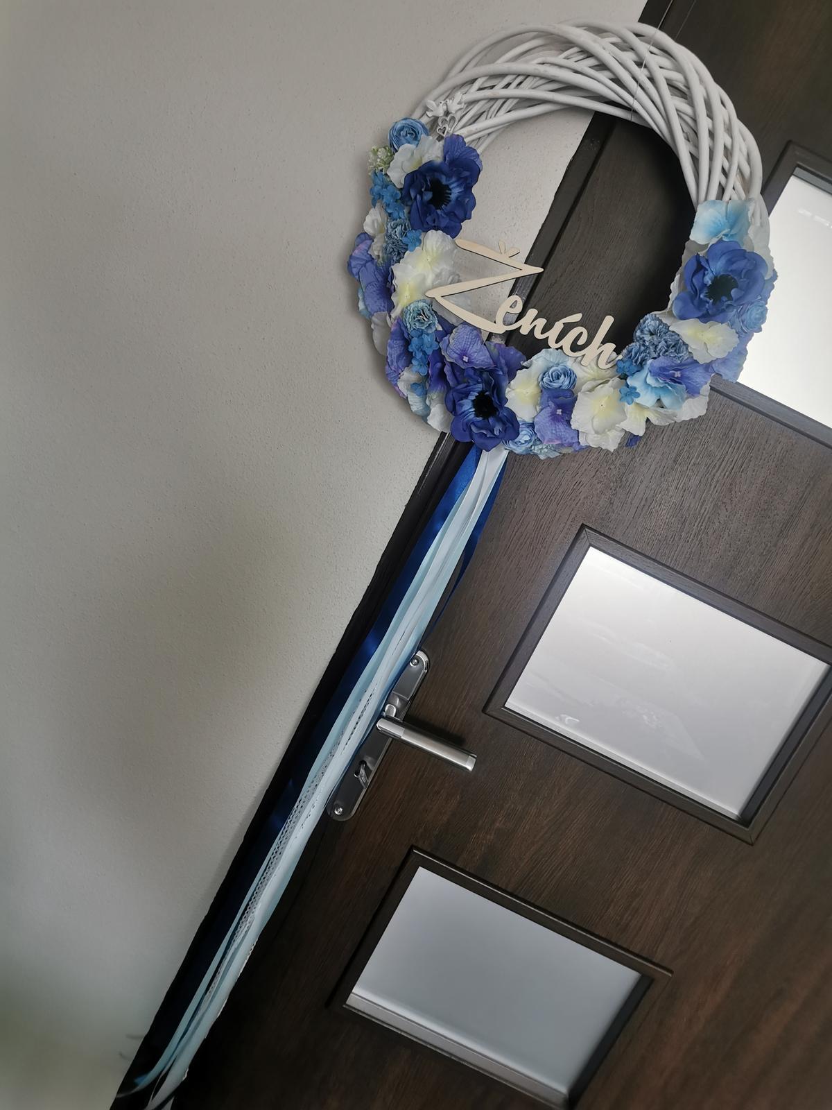 Veľký veniec na dvere pre ženícha - Obrázok č. 2