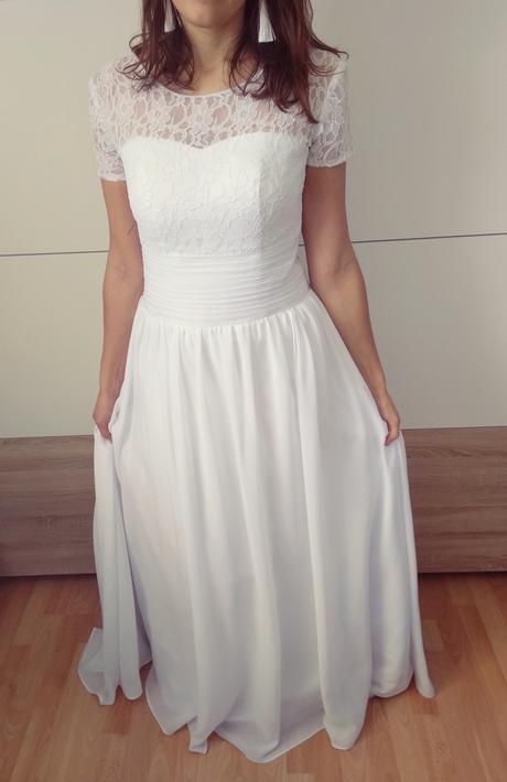 svadobné šaty s čipkou - Obrázok č. 1