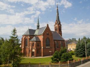 Kostel v Kobeřicích, tady bude obřad