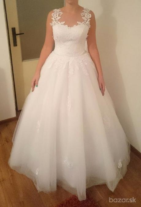 Snehovo biele svadobne šaty  - Obrázok č. 1