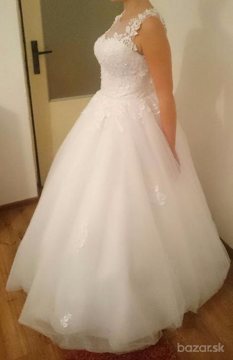 Snehovo biele svadobne šaty  - Obrázok č. 2