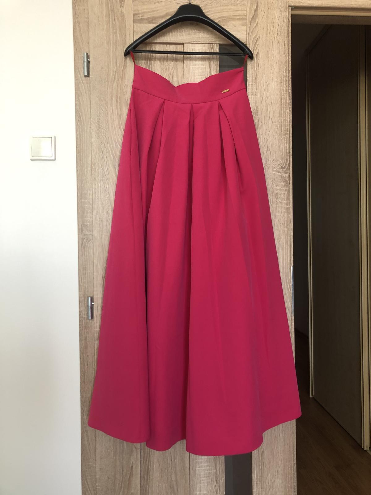 Cyklamenova dlha sukňa  - Obrázok č. 1