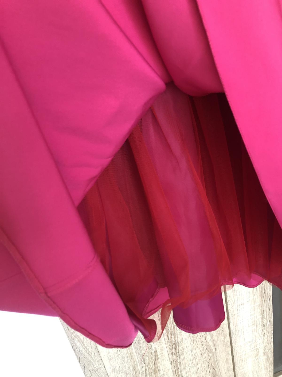 Cyklamenova dlha sukňa  - Obrázok č. 2