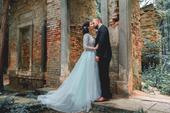 Luxusní svatební šaty Vel 36-38, 36