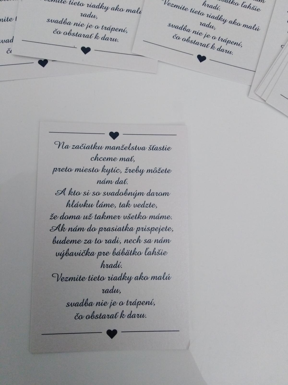 Pozvanie k stolu a básničky k darom  - Obrázok č. 3