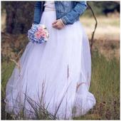 svatební tylová sukně, 38
