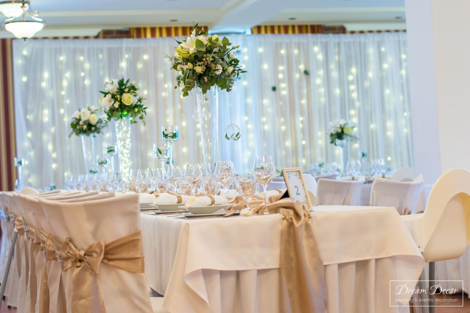Svadobná výzdoba Hotel Tevel, Sládkovičovo - Dream Decor - svadobná výzdoba Hotel Tevel, Sládkovičovo