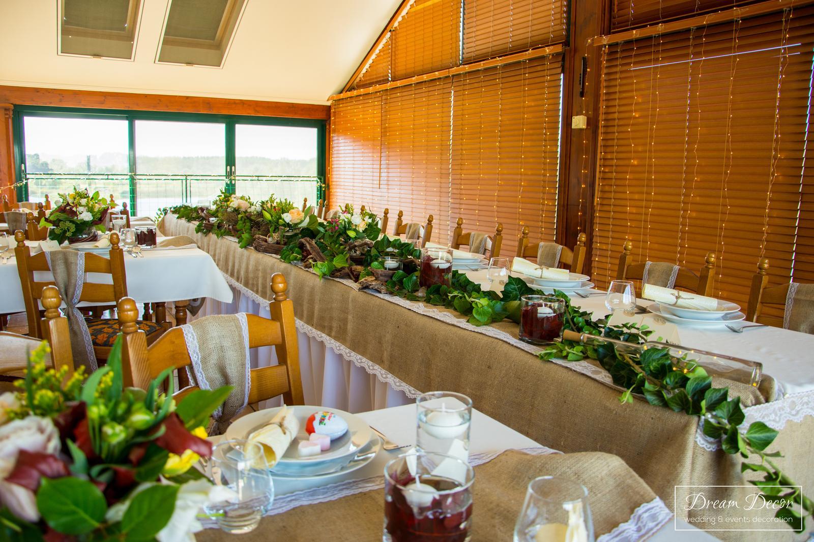 Svadobná výzdoba reštaurácie V siedmom nebi - Jelka - Svadobná výzdoba V siedmom nebi, Jelka