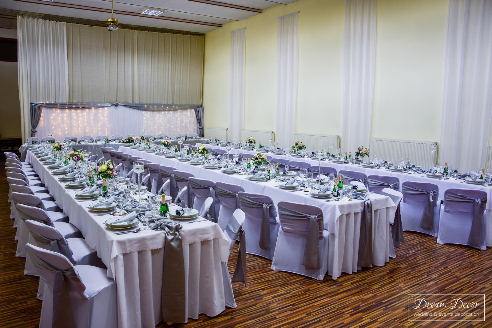 Svadobná výzdoba reštaurácie Marica, Gabčíkovo - Svadobná výzdoba reštaurácie Marica, Gabčíkovo